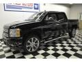 2012 Black Chevrolet Silverado 1500 LTZ Crew Cab 4x4  photo #1