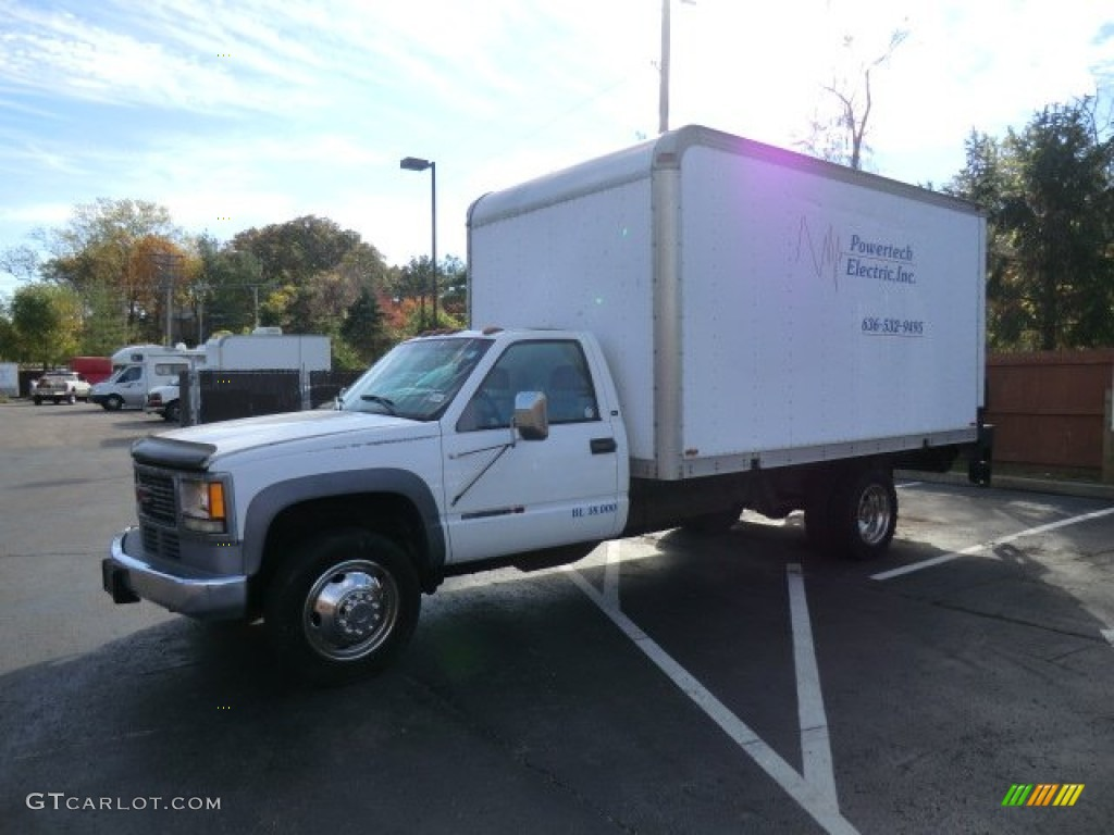 1998 Olympic White Gmc Sierra 3500 Sl Regular Cab Moving Truck  57876132 Photo  2