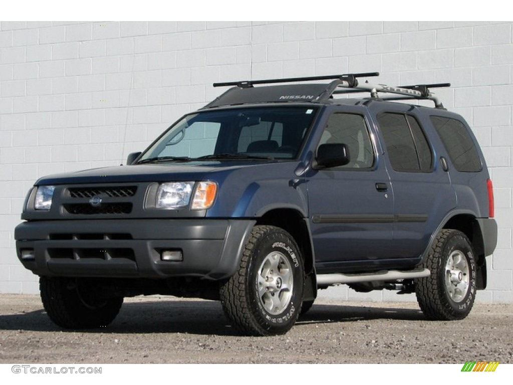 denim blue metallic 2000 nissan xterra se v6 4x4 exterior. Black Bedroom Furniture Sets. Home Design Ideas
