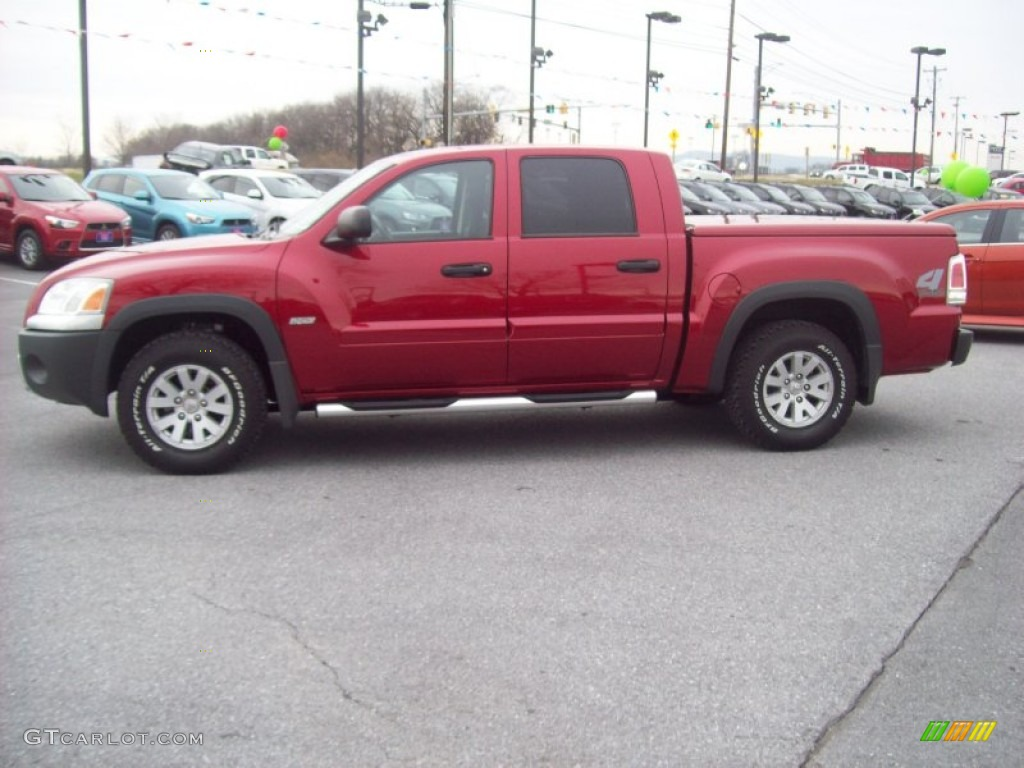 Lava Red 2006 Mitsubishi Raider Durocross Double Cab 4x4 Exterior Photo 58026827 Gtcarlot Com