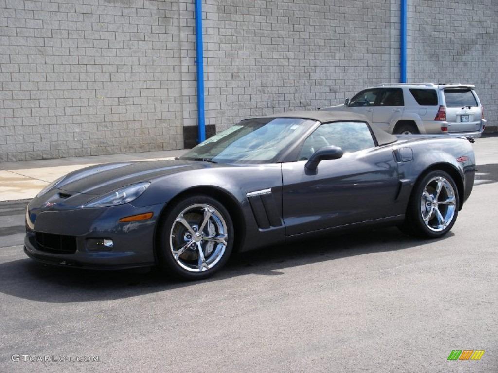 2010 cyber gray metallic chevrolet corvette grand sport convertible 57873887. Black Bedroom Furniture Sets. Home Design Ideas