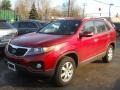2011 Spicy Red Kia Sorento LX  photo #1