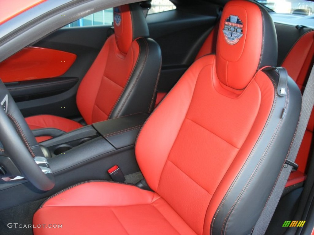 Black Inferno Orange Interior 2010 Chevrolet Camaro SS