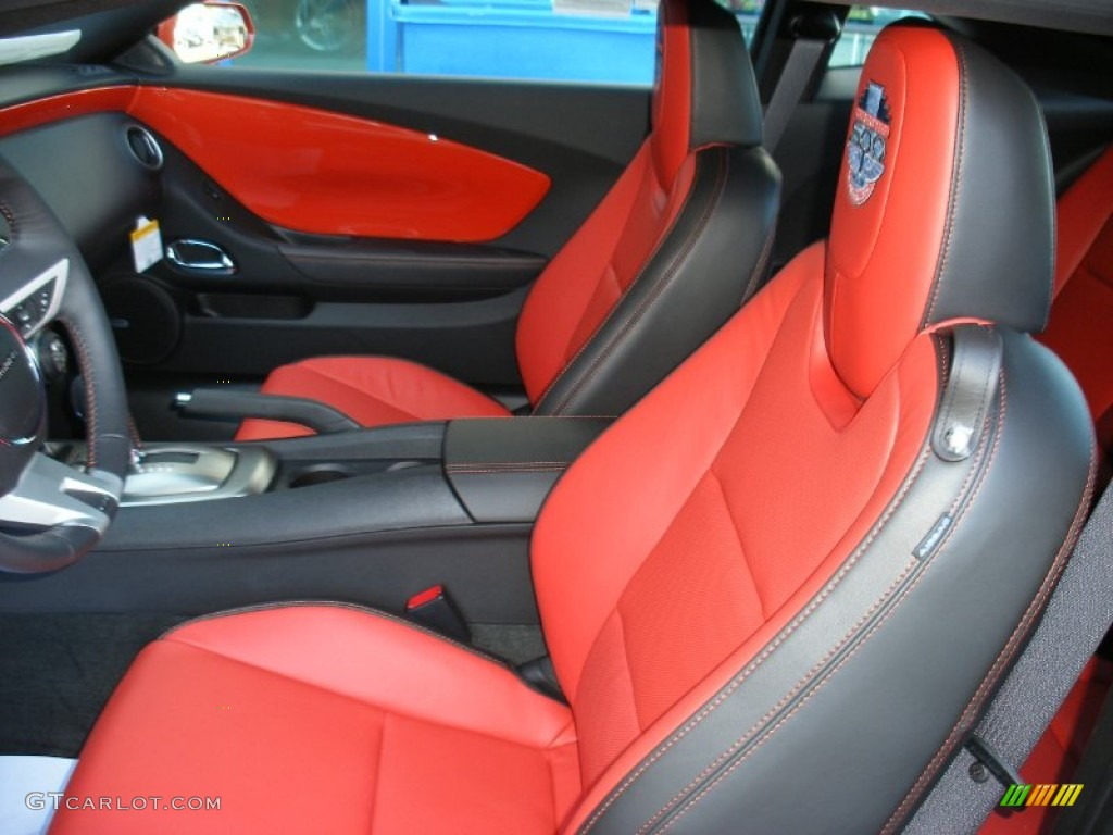 Black Inferno Orange Interior 2010 Chevrolet Camaro Ss Coupe Indianapolis 500 Pace Car Special