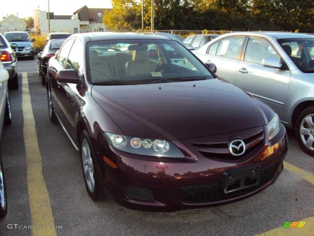 2008 dark cherry mica mazda mazda6 s touring sedan 57875697 car color galleries. Black Bedroom Furniture Sets. Home Design Ideas