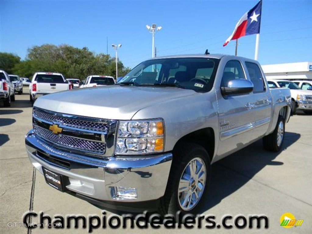 2012 Silverado 1500 LT Crew Cab - Silver Ice Metallic / Ebony photo #1
