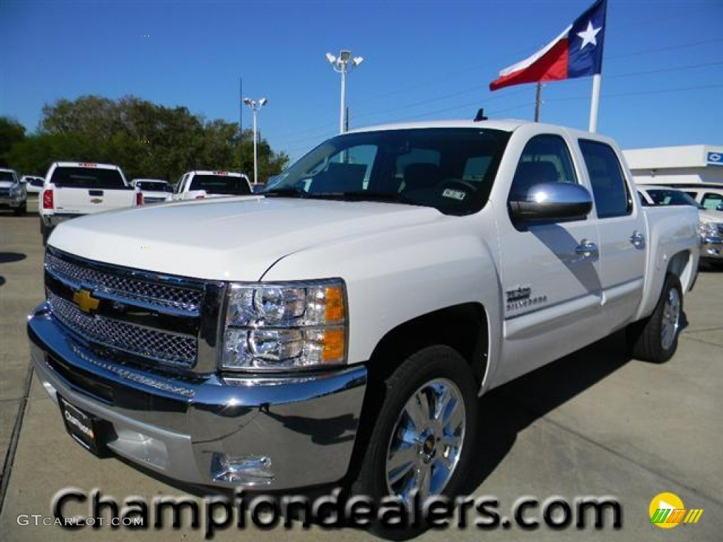 2012 Silverado 1500 LT Crew Cab - Summit White / Ebony photo #1