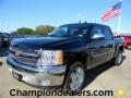 2012 Black Chevrolet Silverado 1500 LT Crew Cab  photo #1