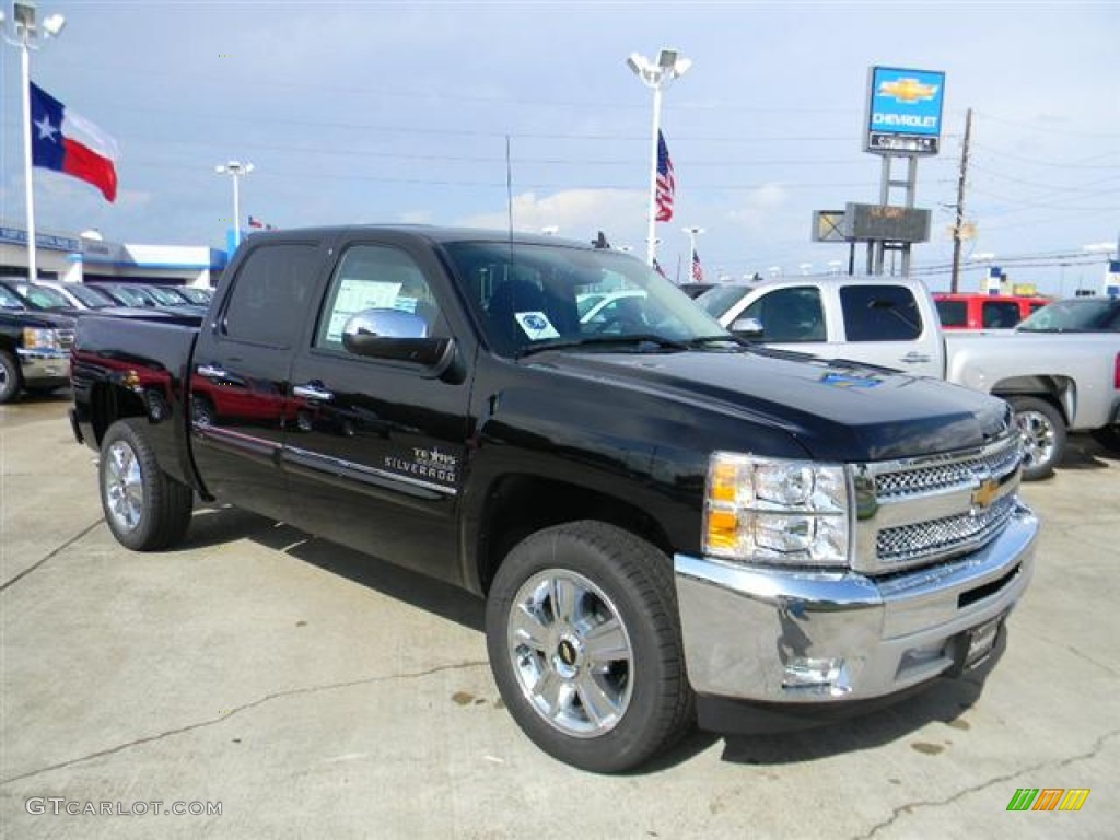 2012 Silverado 1500 LT Crew Cab - Black / Ebony photo #3