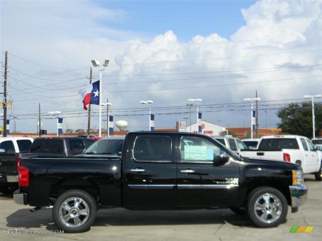 2012 Silverado 1500 LT Crew Cab - Black / Ebony photo #4