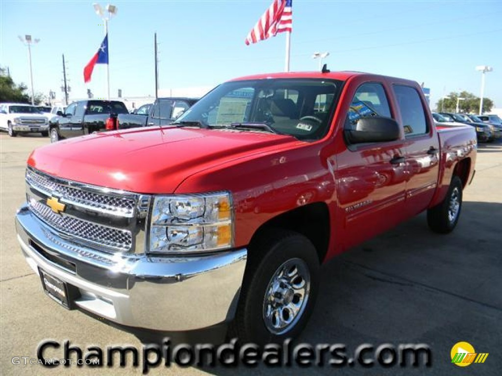 2012 Silverado 1500 LT Crew Cab - Victory Red / Ebony photo #1