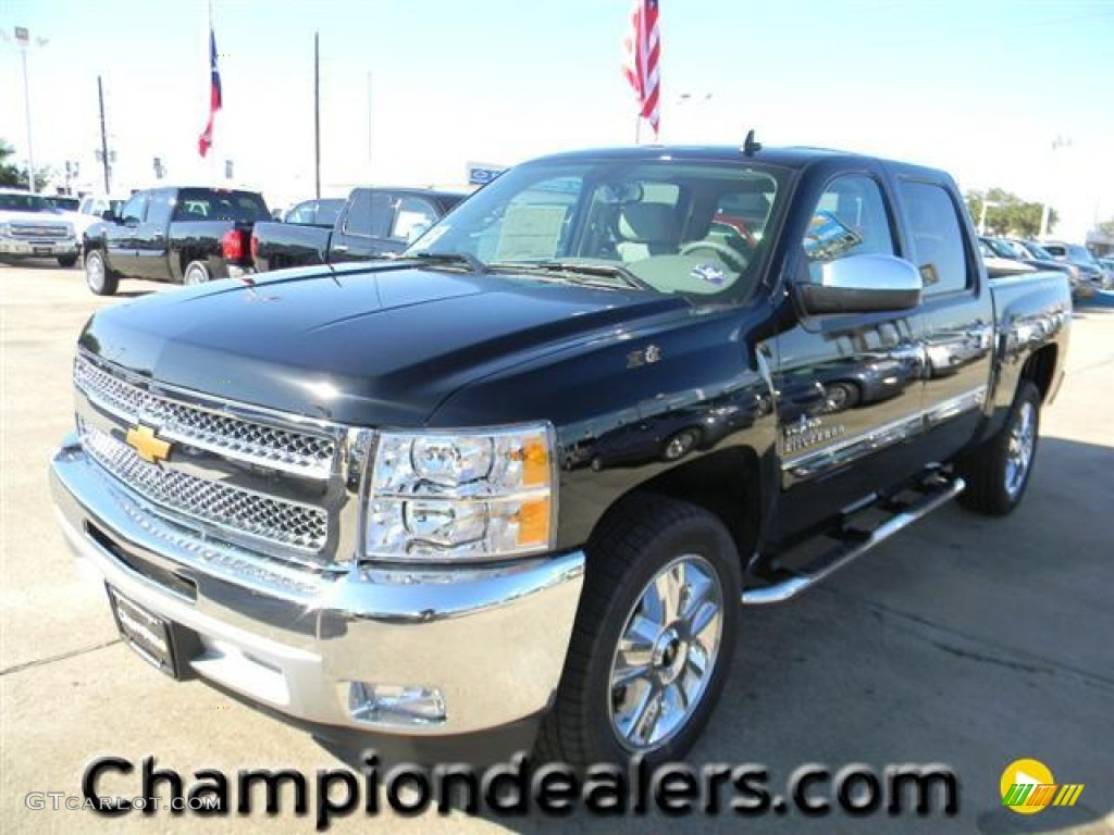 2012 Silverado 1500 LT Crew Cab - Black / Light Titanium/Dark Titanium photo #1