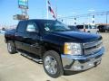 2012 Black Chevrolet Silverado 1500 LT Crew Cab  photo #3