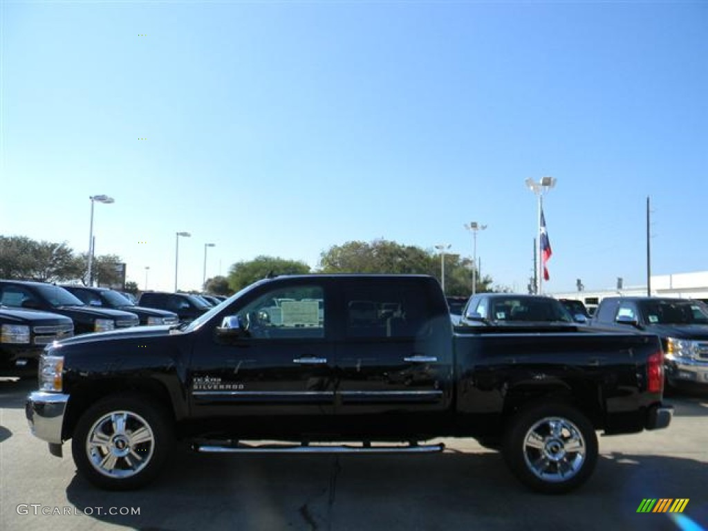 2012 Silverado 1500 LT Crew Cab - Black / Light Titanium/Dark Titanium photo #8