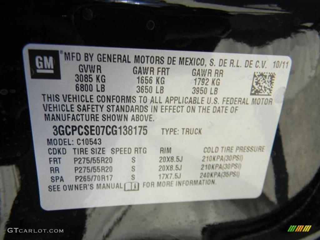 2012 Silverado 1500 LT Crew Cab - Black / Light Titanium/Dark Titanium photo #13