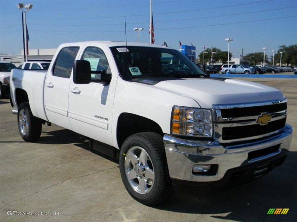 Summit white 2012 chevrolet silverado 2500hd ltz crew cab 4x4 exterior photo 58073587