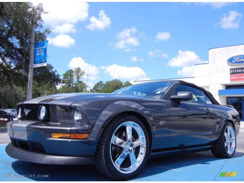 2007 Mustang GT Premium Convertible - Alloy Metallic / Dark Charcoal photo #1