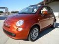 Rame (Copper Orange) 2012 Fiat 500 c cabrio Pop Exterior