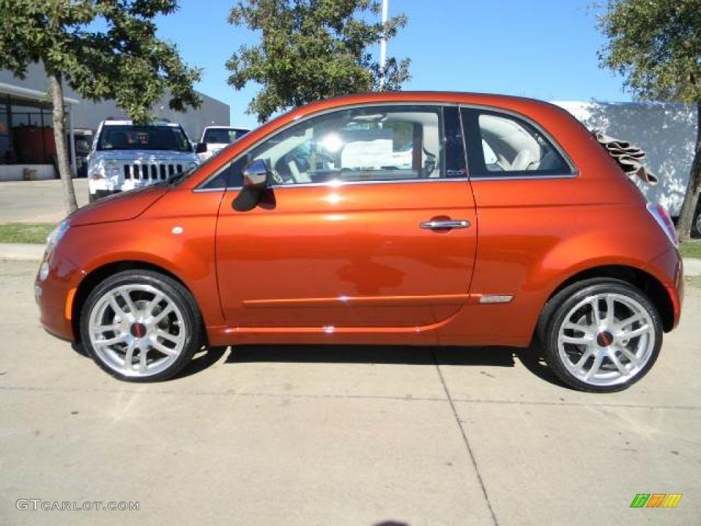 Rame Copper Orange 2012 Fiat 500 C Cabrio Lounge