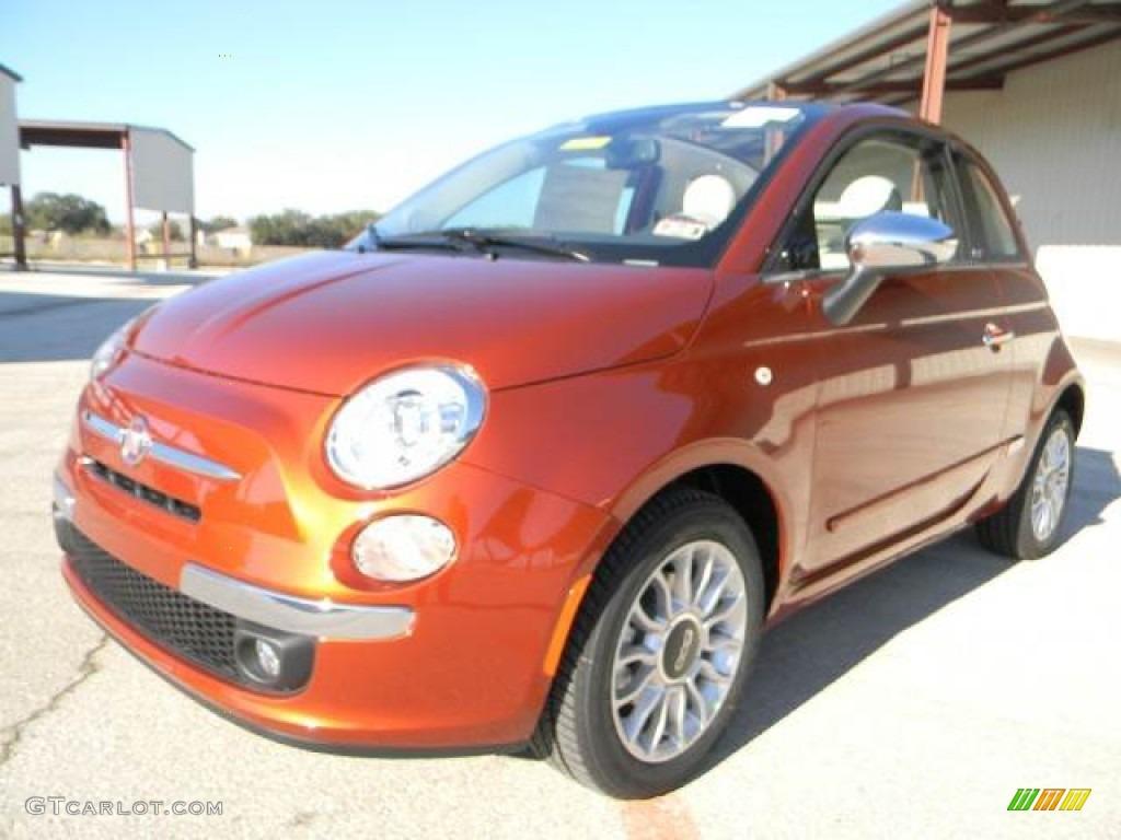 rame copper orange 2012 fiat 500 c cabrio lounge. Black Bedroom Furniture Sets. Home Design Ideas