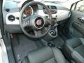 Pelle Nera/Nera (Black/Black) 2012 Fiat 500 Interiors