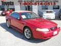 2000 Laser Red Metallic Ford Mustang V6 Convertible  photo #1