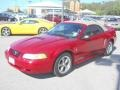 2000 Laser Red Metallic Ford Mustang V6 Convertible  photo #3