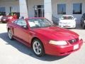 2000 Laser Red Metallic Ford Mustang V6 Convertible  photo #16