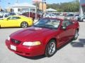 2000 Laser Red Metallic Ford Mustang V6 Convertible  photo #17
