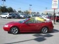 2000 Laser Red Metallic Ford Mustang V6 Convertible  photo #18