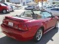 2000 Laser Red Metallic Ford Mustang V6 Convertible  photo #21