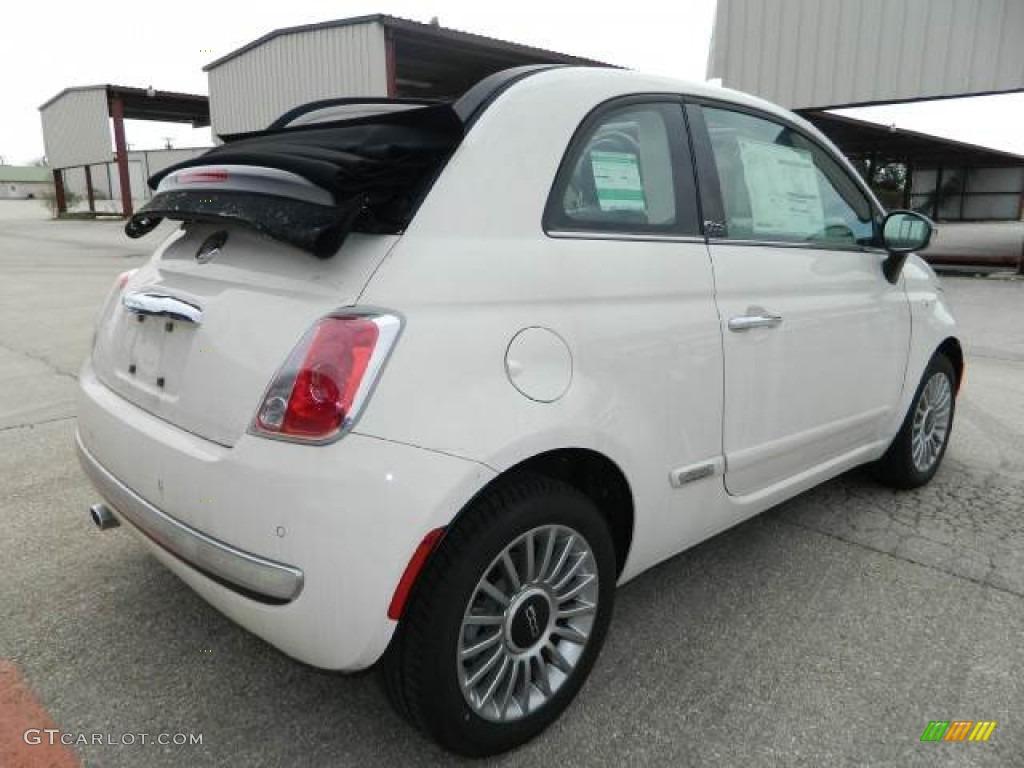 bianco white 2012 fiat 500 c cabrio lounge exterior. Black Bedroom Furniture Sets. Home Design Ideas