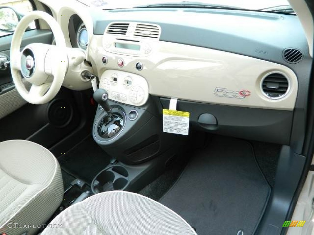 2012 Mocha Latte Light Brown Fiat 500 C Cabrio Lounge