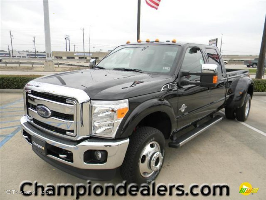 2012 tuxedo black metallic ford f350 super duty lariat crew cab 4x4 dually 57872759 gtcarlot. Black Bedroom Furniture Sets. Home Design Ideas
