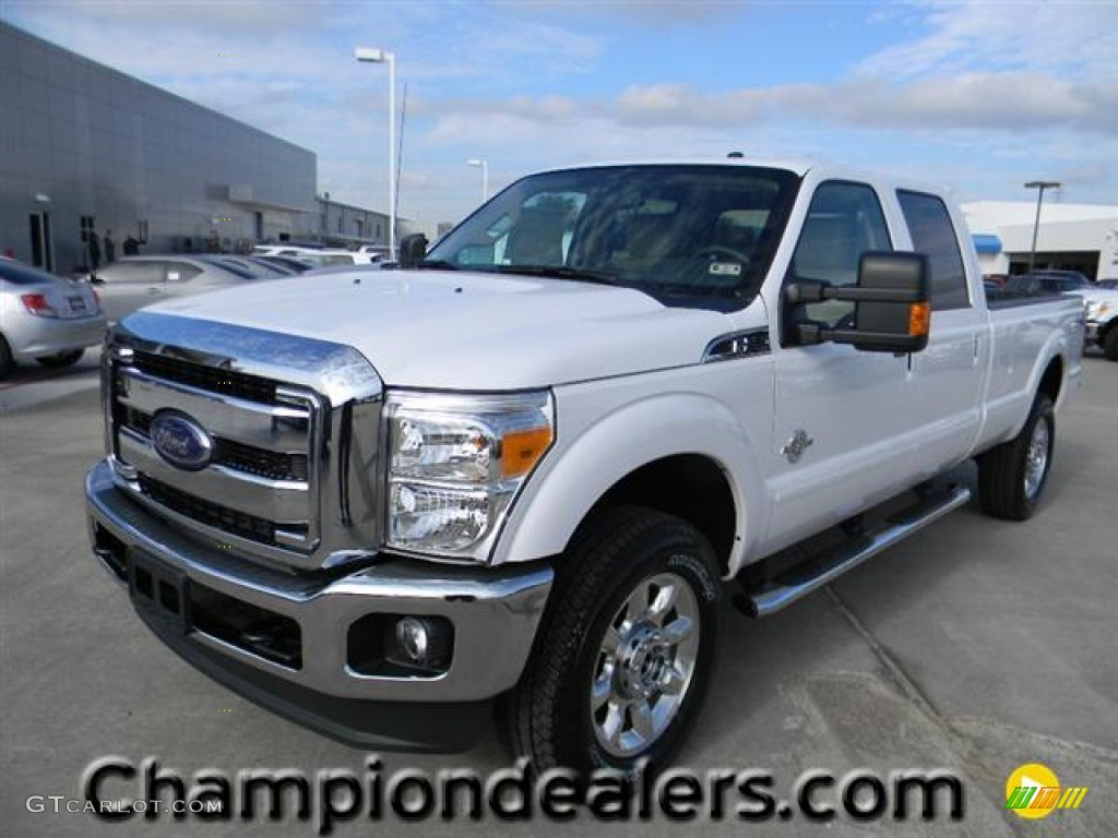 2012 oxford white ford f350 super duty lariat crew cab 4x4 57872758 car color. Black Bedroom Furniture Sets. Home Design Ideas