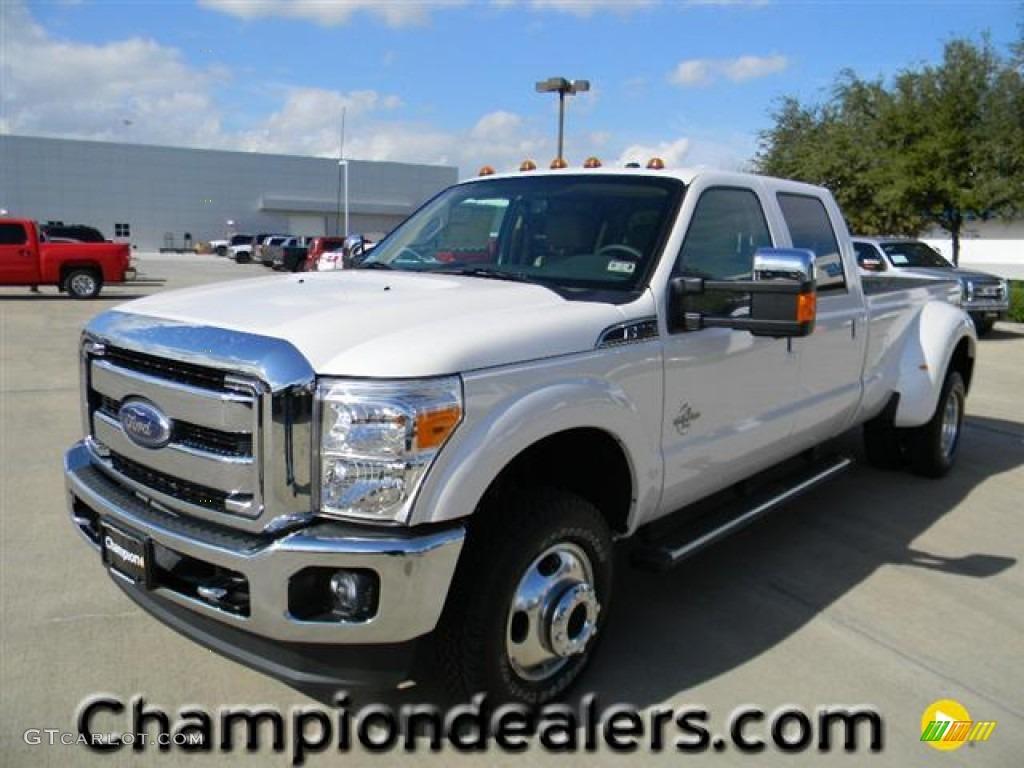 2012 white platinum metallic tri coat ford f350 super duty lariat crew cab 4x4 dually 57872756