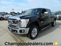 2012 Black Ford F250 Super Duty Lariat Crew Cab 4x4  photo #1