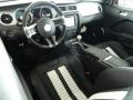 2012 Ford Mustang Charcoal Black/White Interior Prime Interior Photo