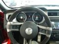 2012 Ford Mustang Charcoal Black/White Interior Steering Wheel Photo