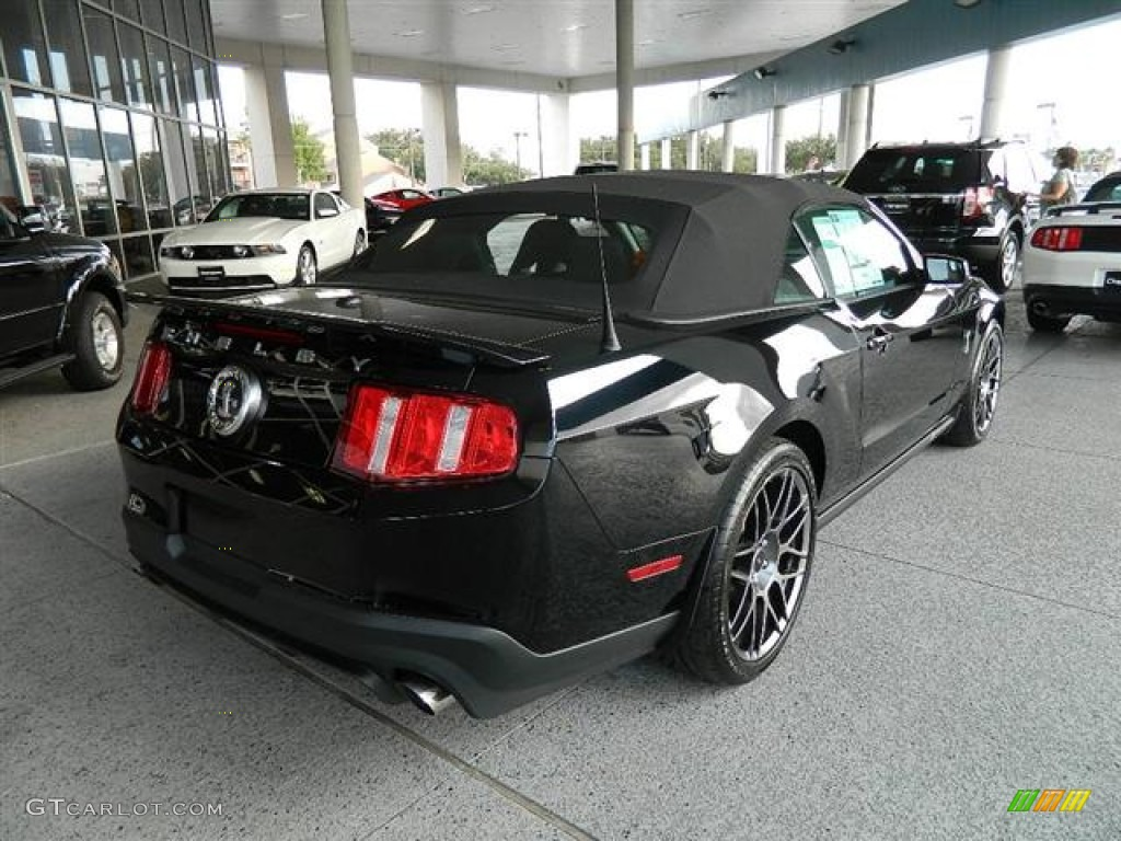 black 2012 ford mustang shelby gt500 svt performance package convertible exterior photo. Black Bedroom Furniture Sets. Home Design Ideas
