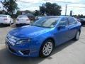 2011 Blue Flame Metallic Ford Fusion SEL  photo #8