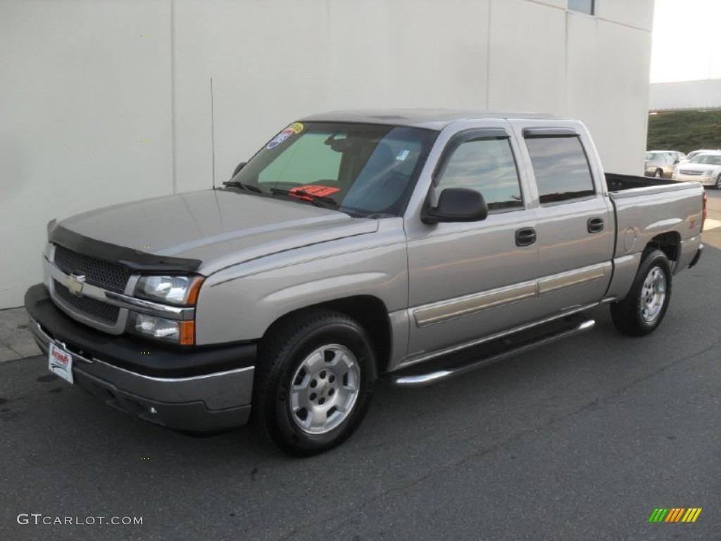 2005 Silverado 1500 >> 2005 Silver Birch Metallic Chevrolet Silverado 1500 LS Crew Cab #58090455 | GTCarLot.com - Car ...