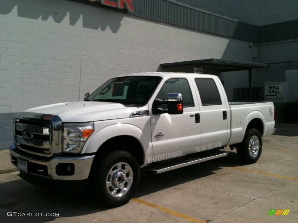 2012 oxford white ford f250 super duty xlt crew cab 4x4 57876349 car color. Black Bedroom Furniture Sets. Home Design Ideas