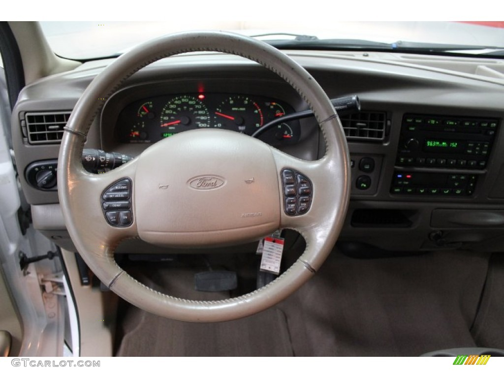 2002 Ford Excursion Limited 4x4 Medium Parchment Steering