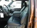 2011 Ford F250 Super Duty Black Two Tone Leather Interior Interior Photo