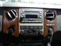 2011 Ford F250 Super Duty Black Two Tone Leather Interior Controls Photo