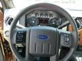 2011 Ford F250 Super Duty Black Two Tone Leather Interior Steering Wheel Photo