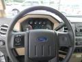 2011 Ford F250 Super Duty Adobe Beige Interior Steering Wheel Photo
