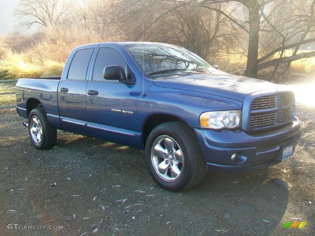 2005 atlantic blue pearl dodge ram 1500 sport quad cab. Black Bedroom Furniture Sets. Home Design Ideas