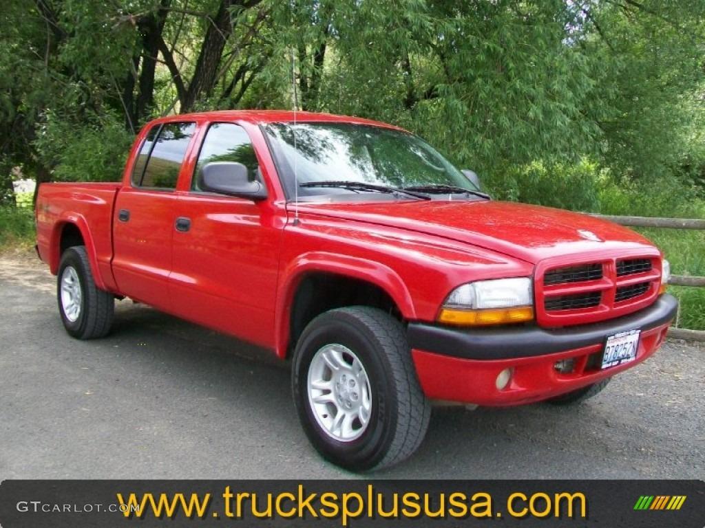 2003 Flame Red Dodge Dakota Sport Quad Cab 4x4 57876310